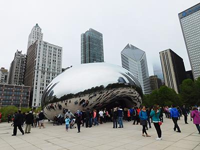 Cloud Gate au Millenium Park de Chicago