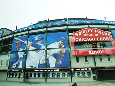 Stade de baseball Wrigley Field à Chicago