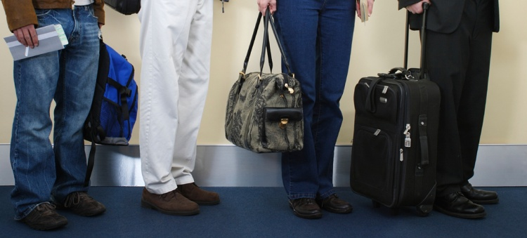 Travellers with carry-ons
