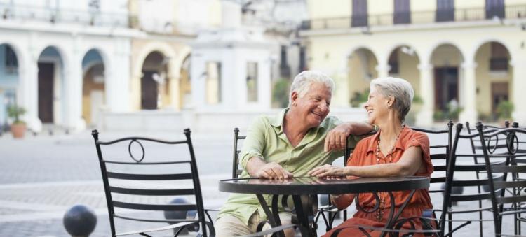 Seniors enjoying their vacation